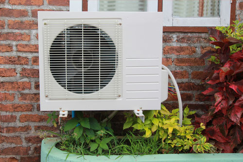 air conditioner outside the house